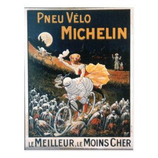Carte postale vintage d'homme de Michelin