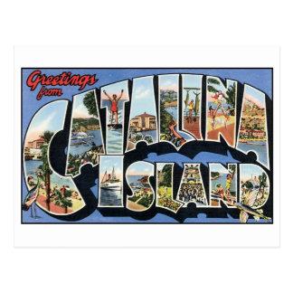 Carte postale vintage d'île de Catalina