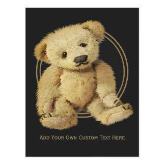 Carte postale vintage d'ours de nounours