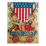 Carte postale vintage du 4 juillet