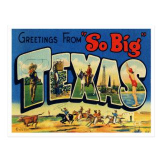 Carte postale vintage du Texas