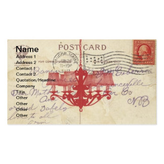 Carte postale vintage et lustre carte de visite standard