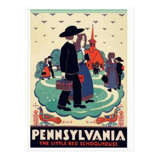 Carte postale vintage Etats-Unis de voyage de la