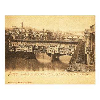 Carte postale vintage, Florence, Italie