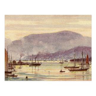 Carte postale vintage Hobart, Tasmanie, Australie