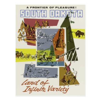Carte postale vintage le Dakota du Sud Etats-Unis