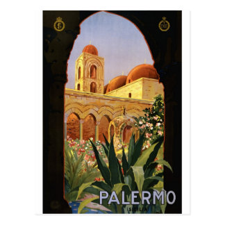 Carte Postale vintage-palermo-travel-poster.
