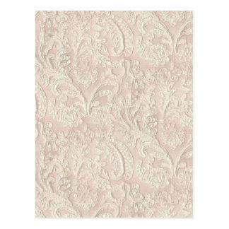 Carte Postale Vintage pâlissez - la dentelle rose