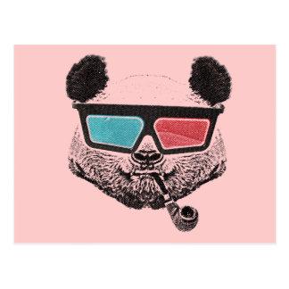 Carte Postale Vintage panda 3D glasses
