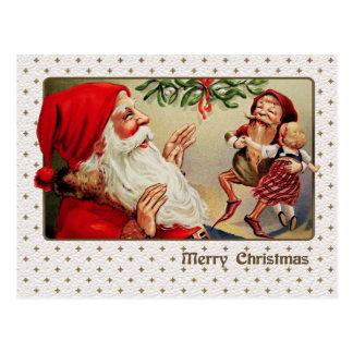 Carte postale vintage personnalisable de Noël de