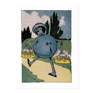 Carte Postale Vintage peu d'illustration de magicien d'Oz