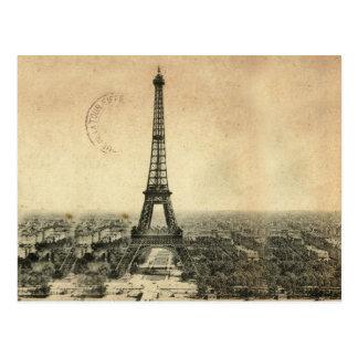 Carte postale vintage rare avec Tour Eiffel à