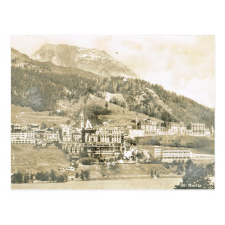 Carte Postale Vintage, Suisse, St Moritz, 1906