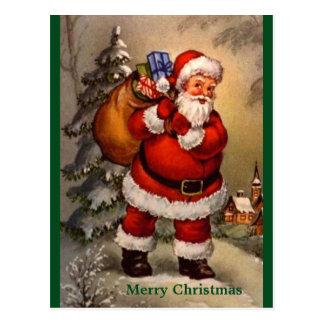 Carte postale vintage traditionnelle de Noël de
