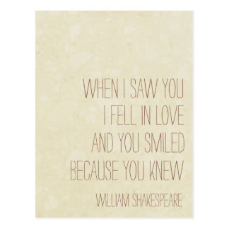 Carte Postale VintageLove - citation de William Shakespeare -
