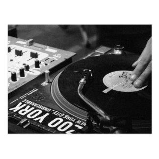 Carte Postale Vinyle de rotation 1 du DJ