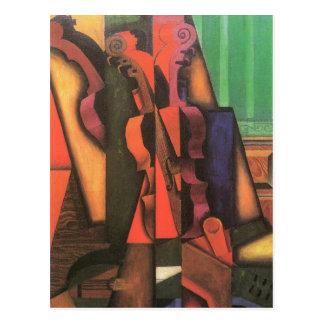 Carte Postale Violon et guitare par Juan Gris, art vintage de