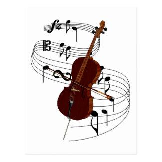 Carte Postale Violoncelle