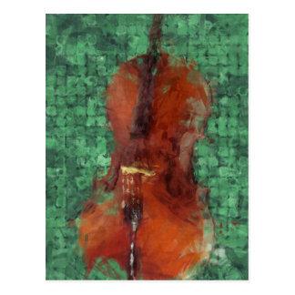 Carte Postale Violoncelle sur le vert