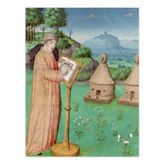 Carte Postale Virgil écrivant la vie des abeilles