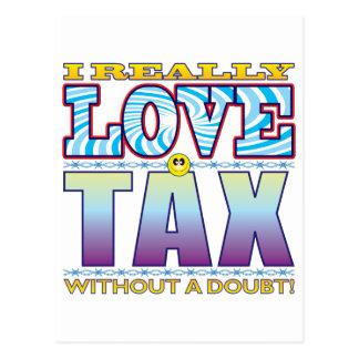 Carte Postale Visage d'amour d'impôts