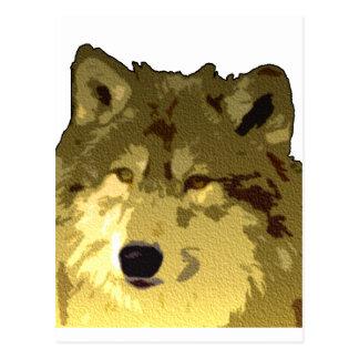 Carte Postale Visage de loup