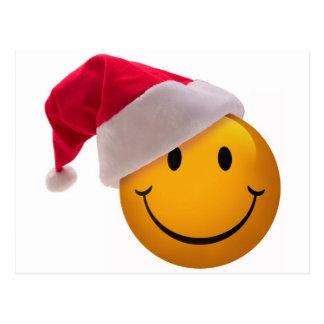 Carte Postale Visage de smiley de Noël