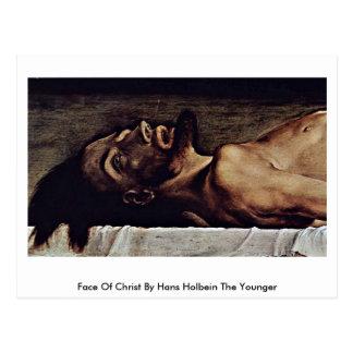 Carte Postale Visage du Christ par Hans Holbein le plus jeune