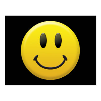 Carte Postale Visage souriant heureux