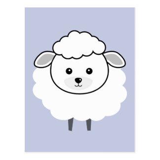 Carte Postale Visage Wooly mignon d'agneau