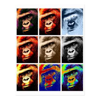 Carte Postale Visages de gorille