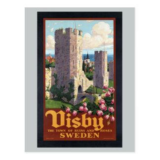 Carte Postale Visby Suède - voyage vintage
