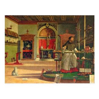 Carte Postale Vision de St Augustine, 1502-08 (huile sur la