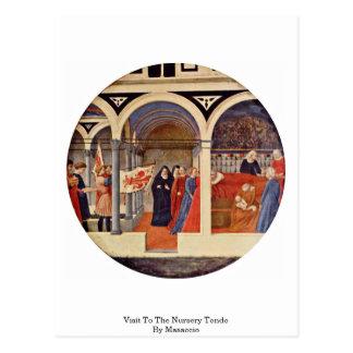 Carte Postale Visite à la crèche Tondo par Masaccio