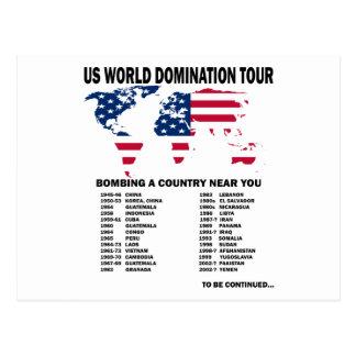 Carte Postale Visite de domination du monde