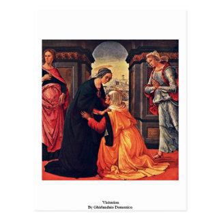 Carte Postale Visite par Ghirlandaio Domenico