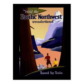 Carte Postale Visitez le nord-ouest Pacifique