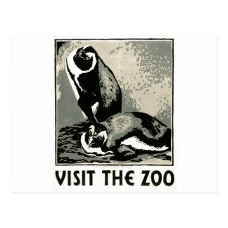 Carte Postale Visitez le zoo - l'affiche de WPA -