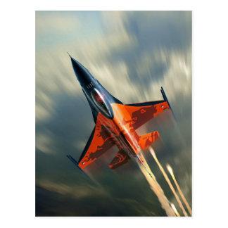 Carte Postale Vitesse militaire d'avion d'avion de chasse