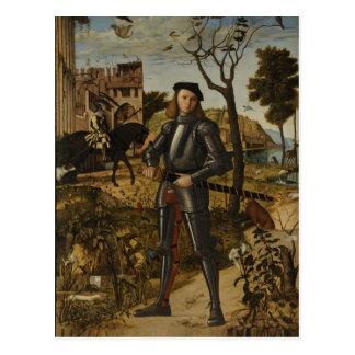 Carte Postale Vittore Carpaccio - jeune chevalier dans un