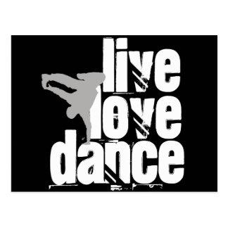 Carte Postale Vivant, amour, danse