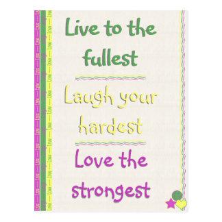 Carte Postale Vivant, rire, amour