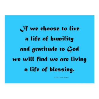 Carte Postale vivant une vie de la bénédiction