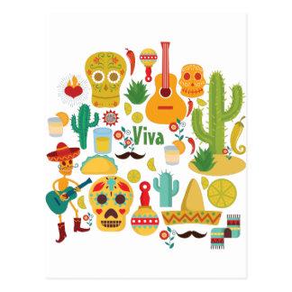 Carte Postale vivats Mexique