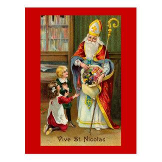 """Carte Postale """"Vive cru français de St Nicolas"""""""