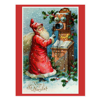"""Carte Postale """"Vive Noël français vintage de St Nicolas"""""""