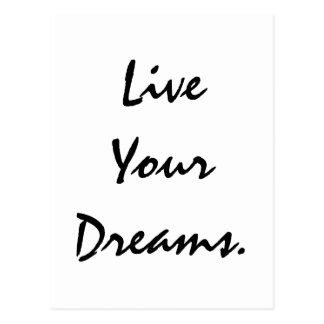 Carte Postale Vivent vos rêves