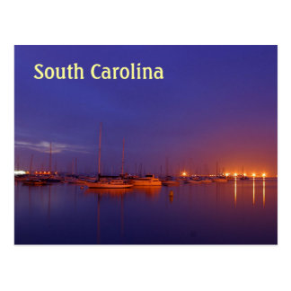 Carte Postale Voiliers de la Caroline du Sud dans la marina au