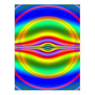 Carte Postale Voir dans la fractale au néon fluorescente
