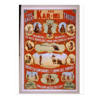 Carte Postale Voir le Kar-MI, des 'pousses par tube de canon en